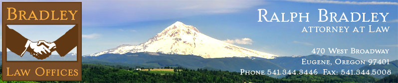 logo of two hands shaking in comeraderie; Mt. Hood, Oregon in background